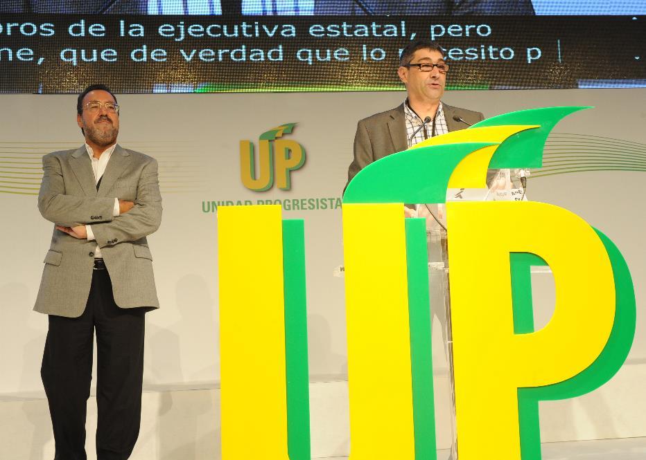 Miguel Carballeda, Presidente de UP, la ONCE y su Fundación y Jose Luis Pinto, Secretario General de UP