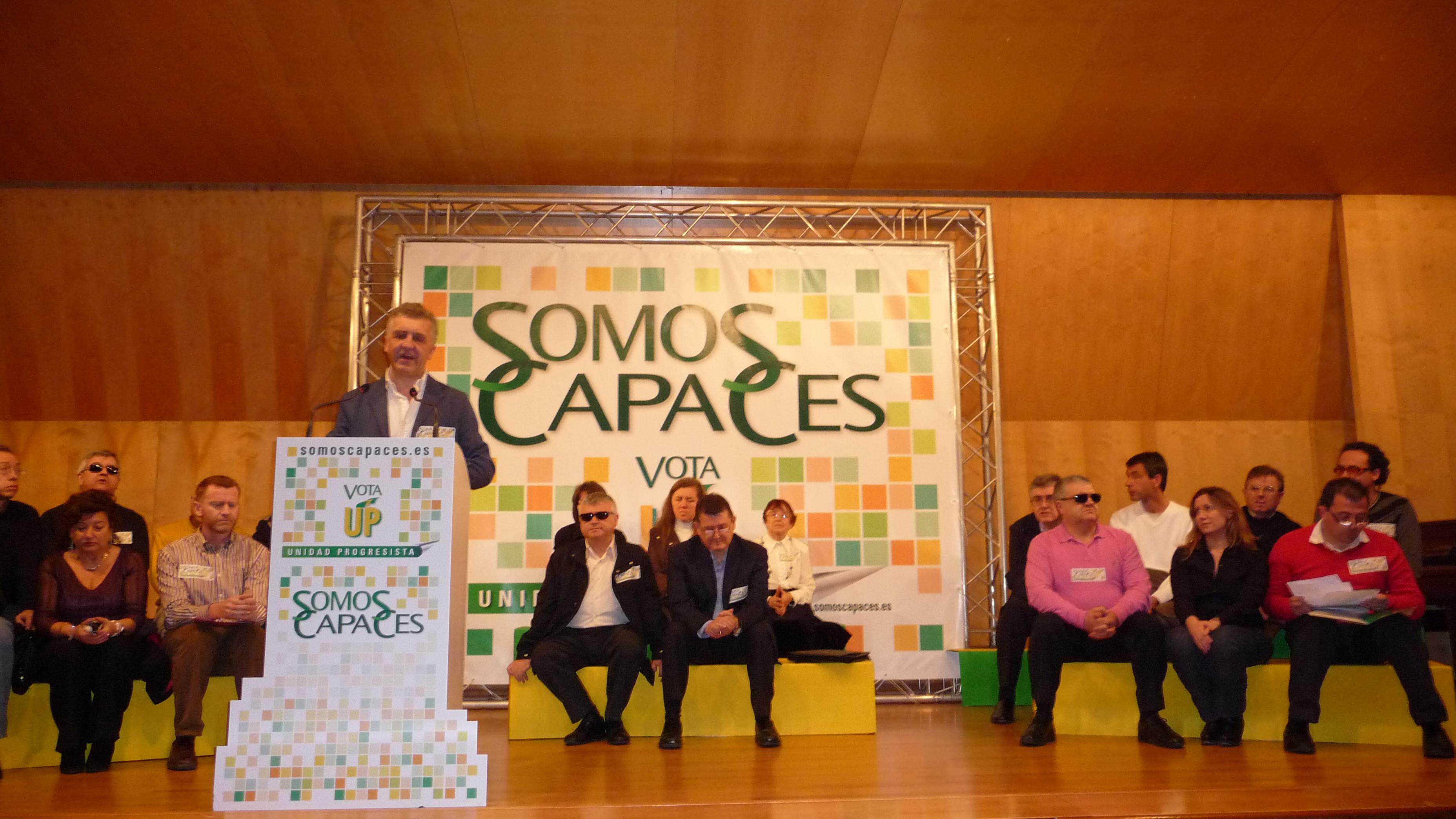 Acto Comité Territorial de UP con Ángel Sánchez