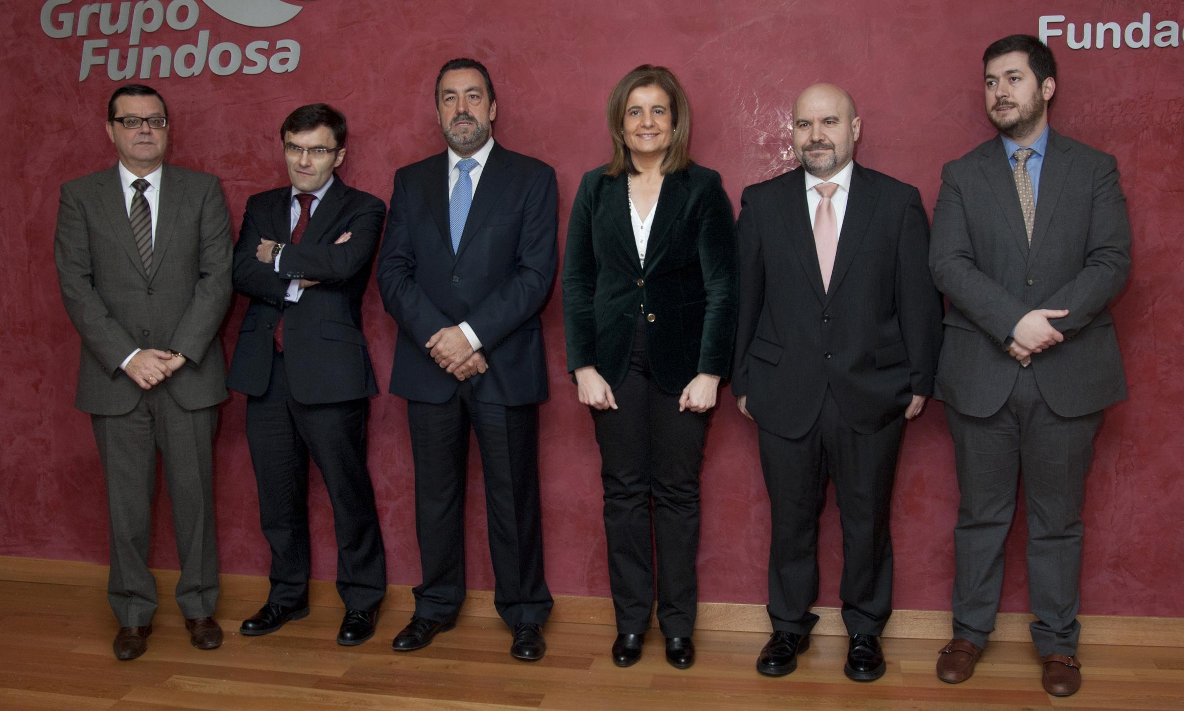 Foto del Acto Jose Luis Martinez Alberto Durán Miguel Carballeda Fatima Bañez y Luis Cayo