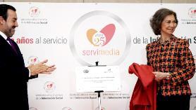 Miguel Carballeda y SM La Reina